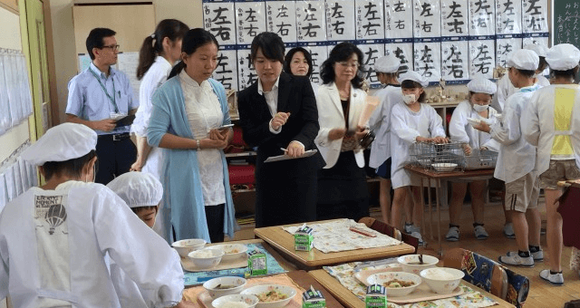 海外(中国)からの学校給食の視察を受け入れました